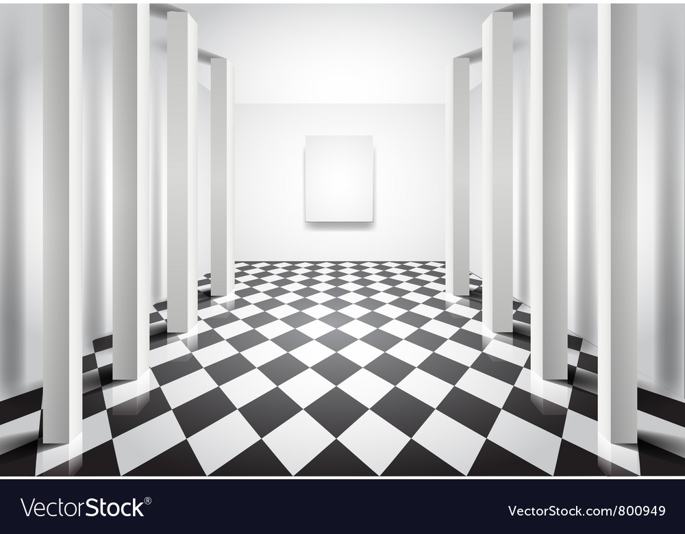 Hall with columns vector