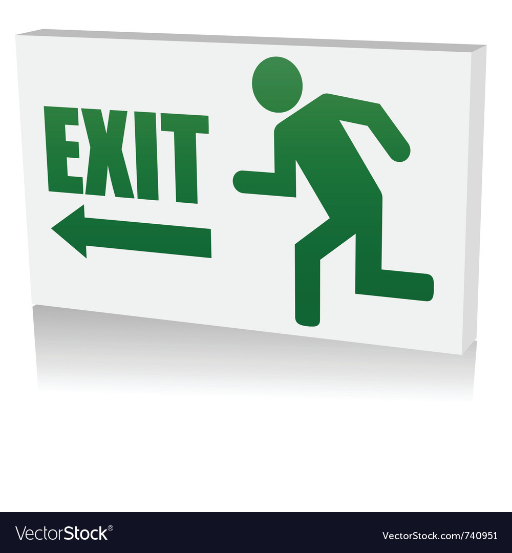 Security exit icon vector