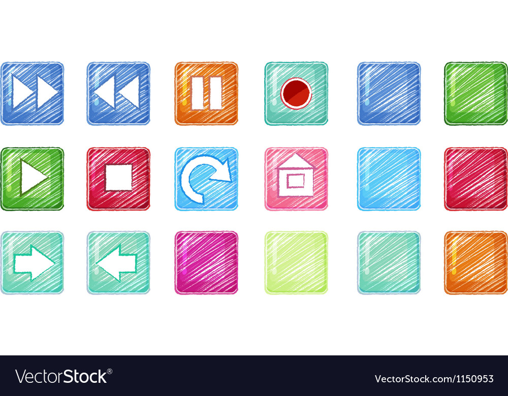 Different icons vector