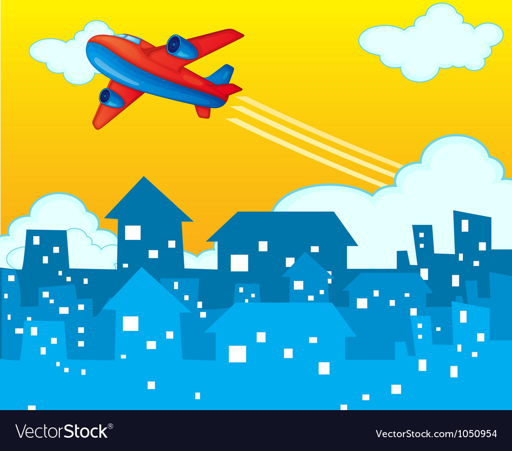 Plane taking off vector