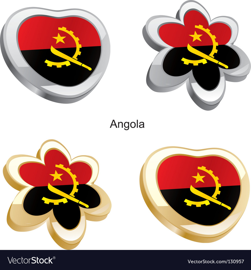 Flag of angola vector