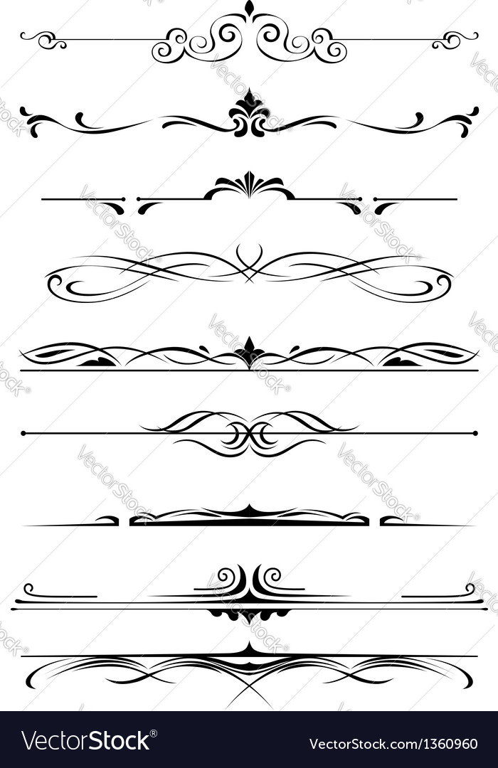 Vintage monograms and borders vector