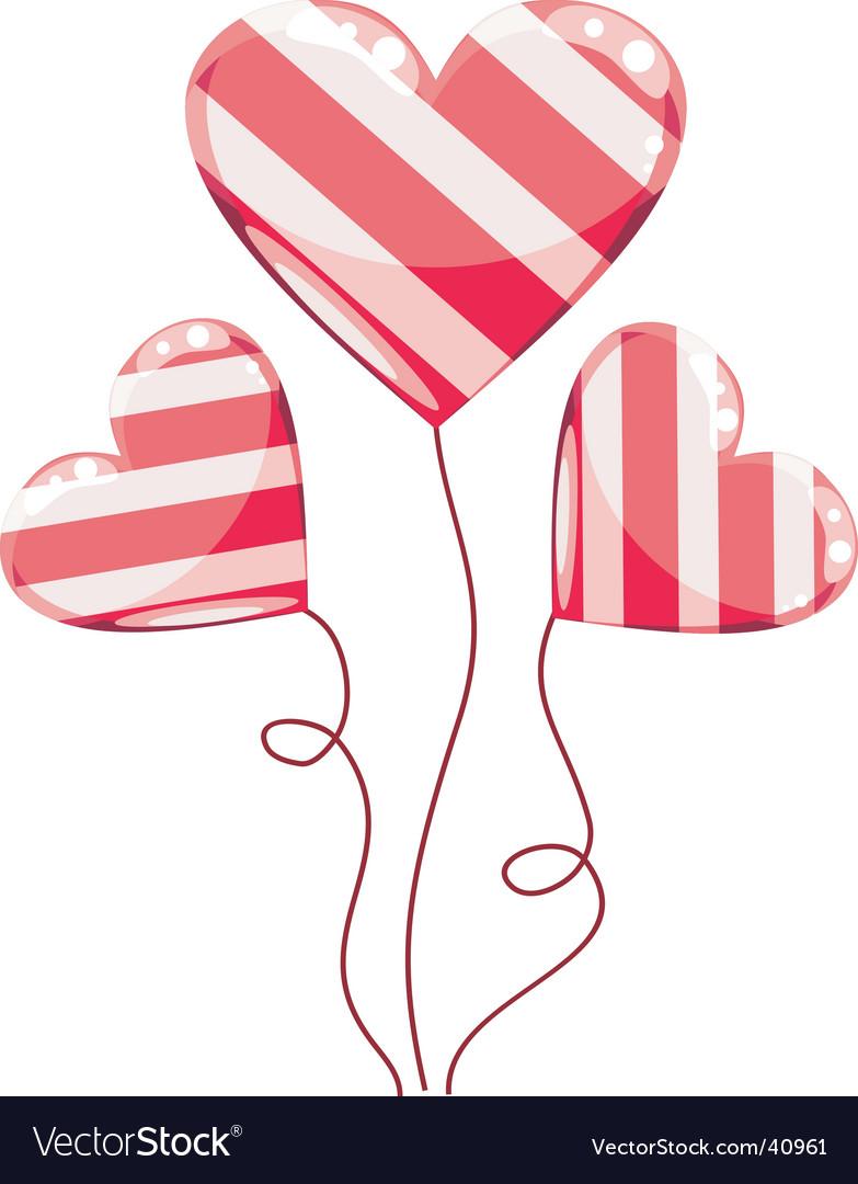Valentines hearts balloons cartoon vector by skazka_grez - Image ...