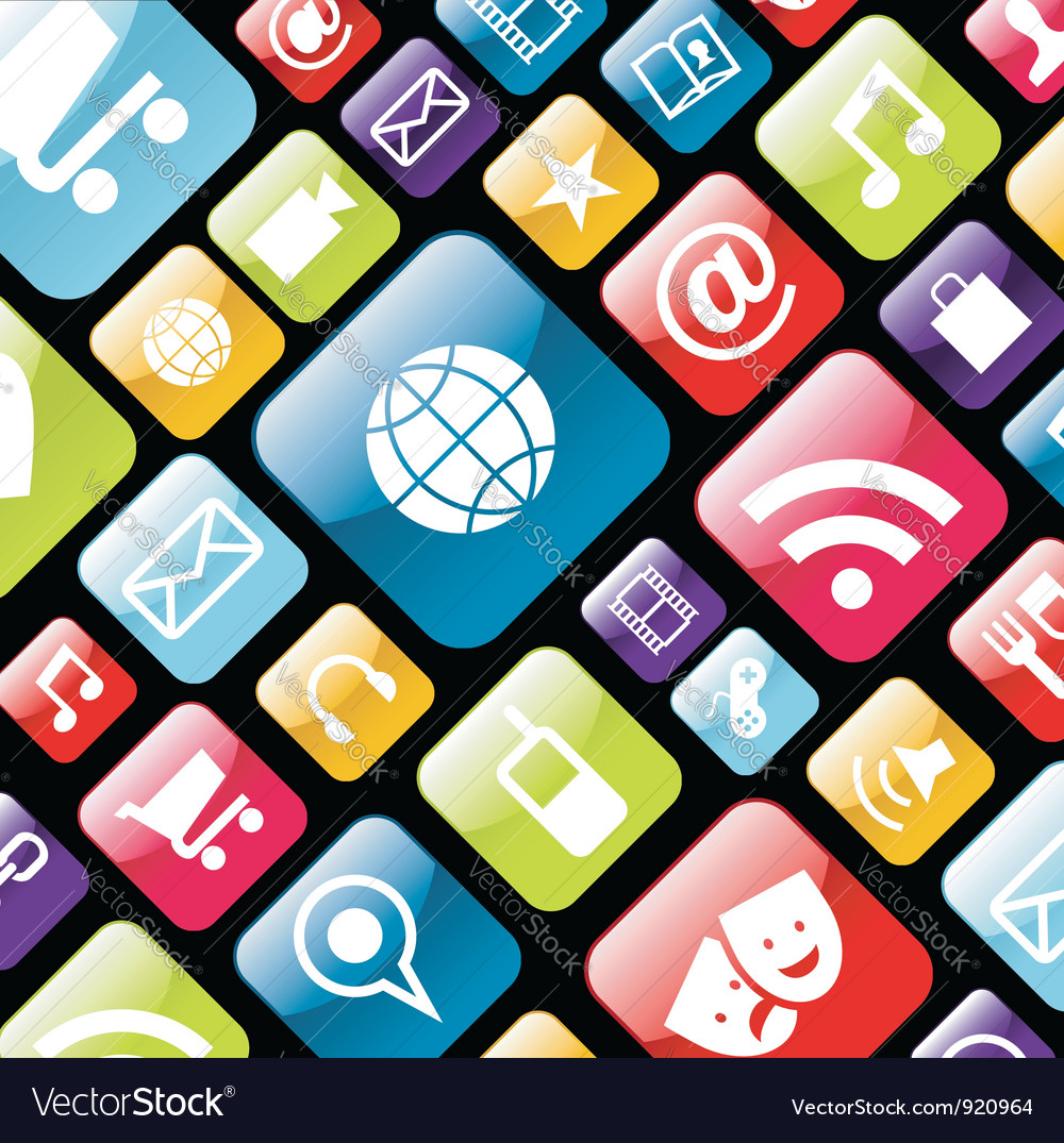 App icon background vector