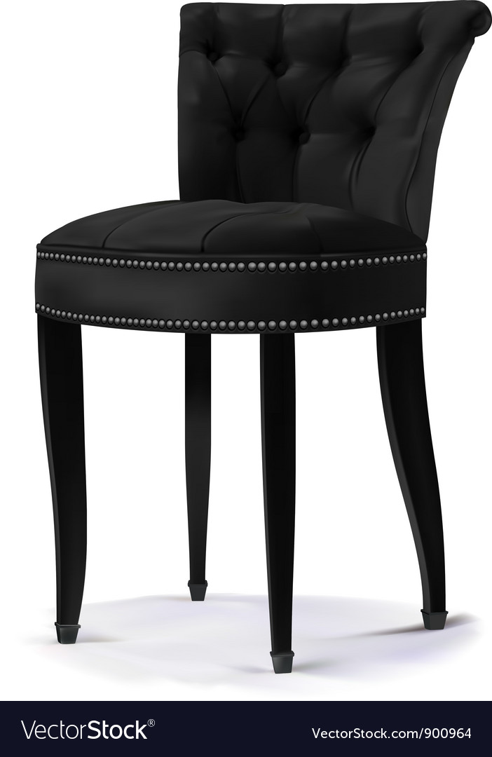 Chair black vector