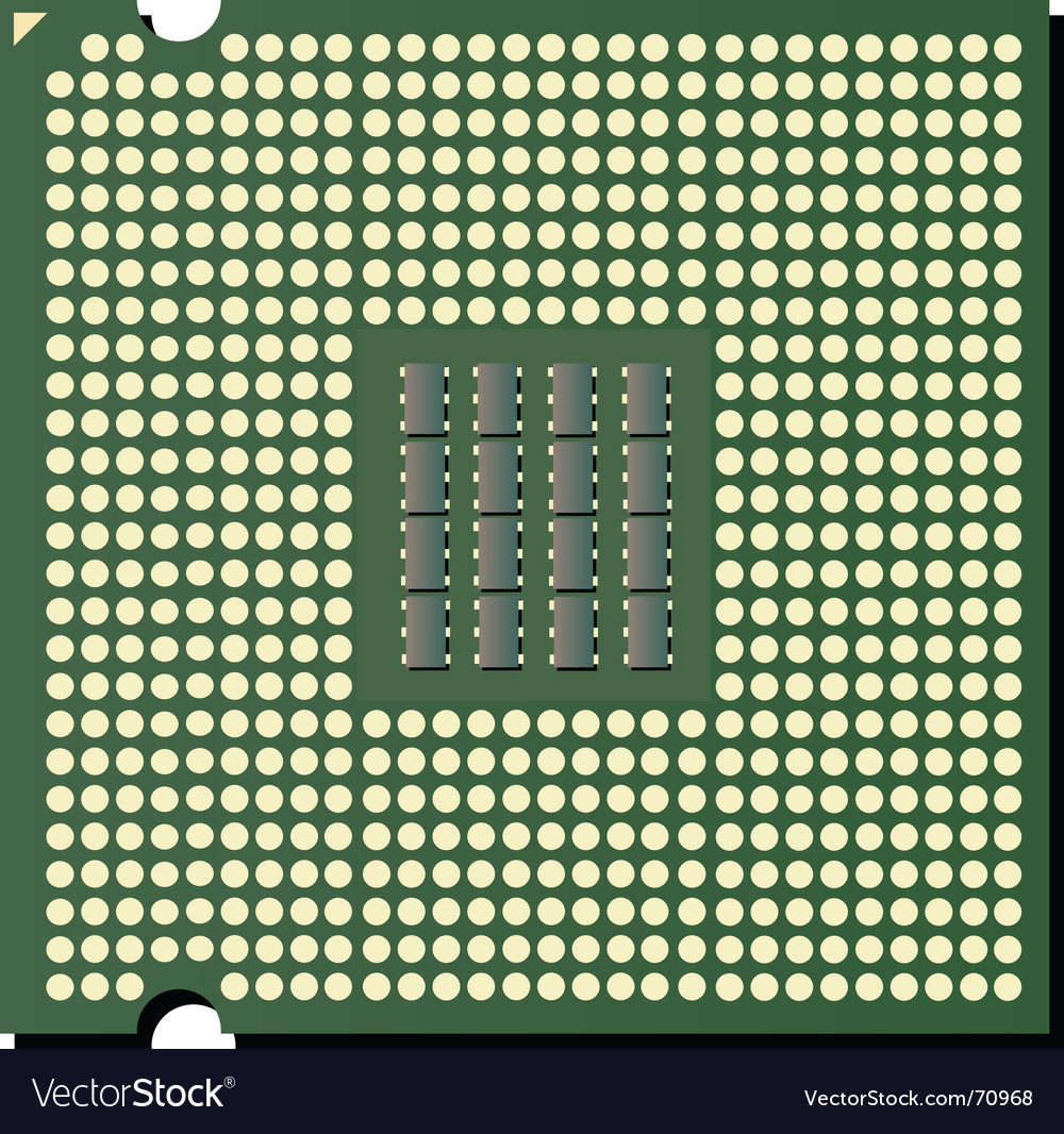 Cpu chip vector
