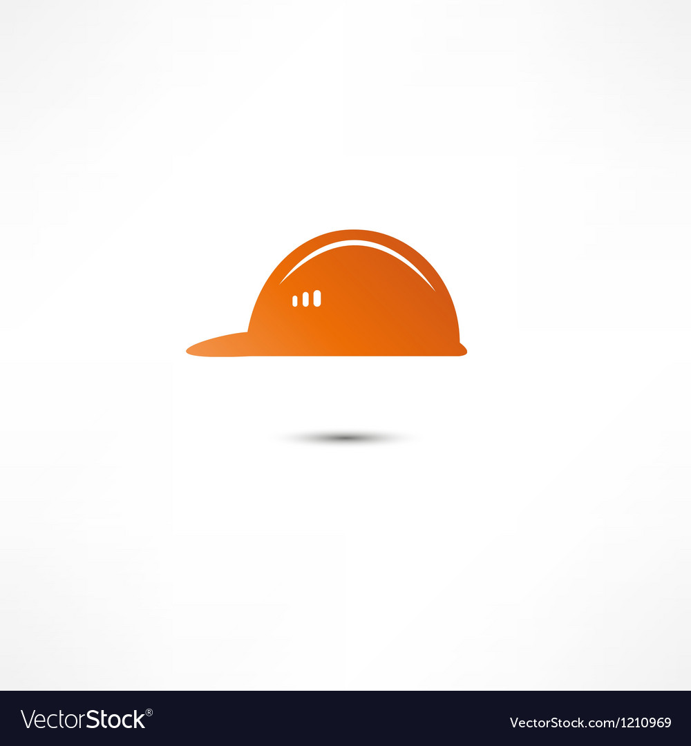 Helmet builder icon vector