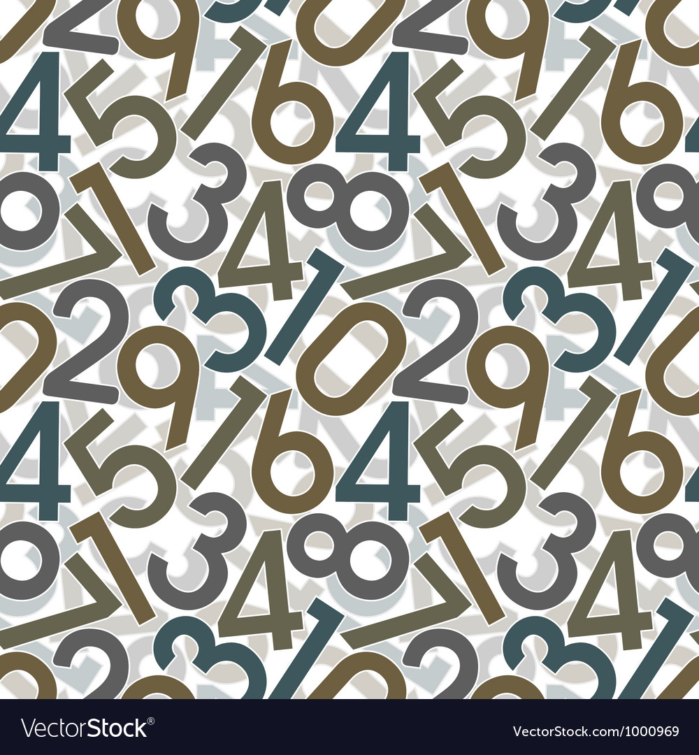 Seamless digital pattern vector