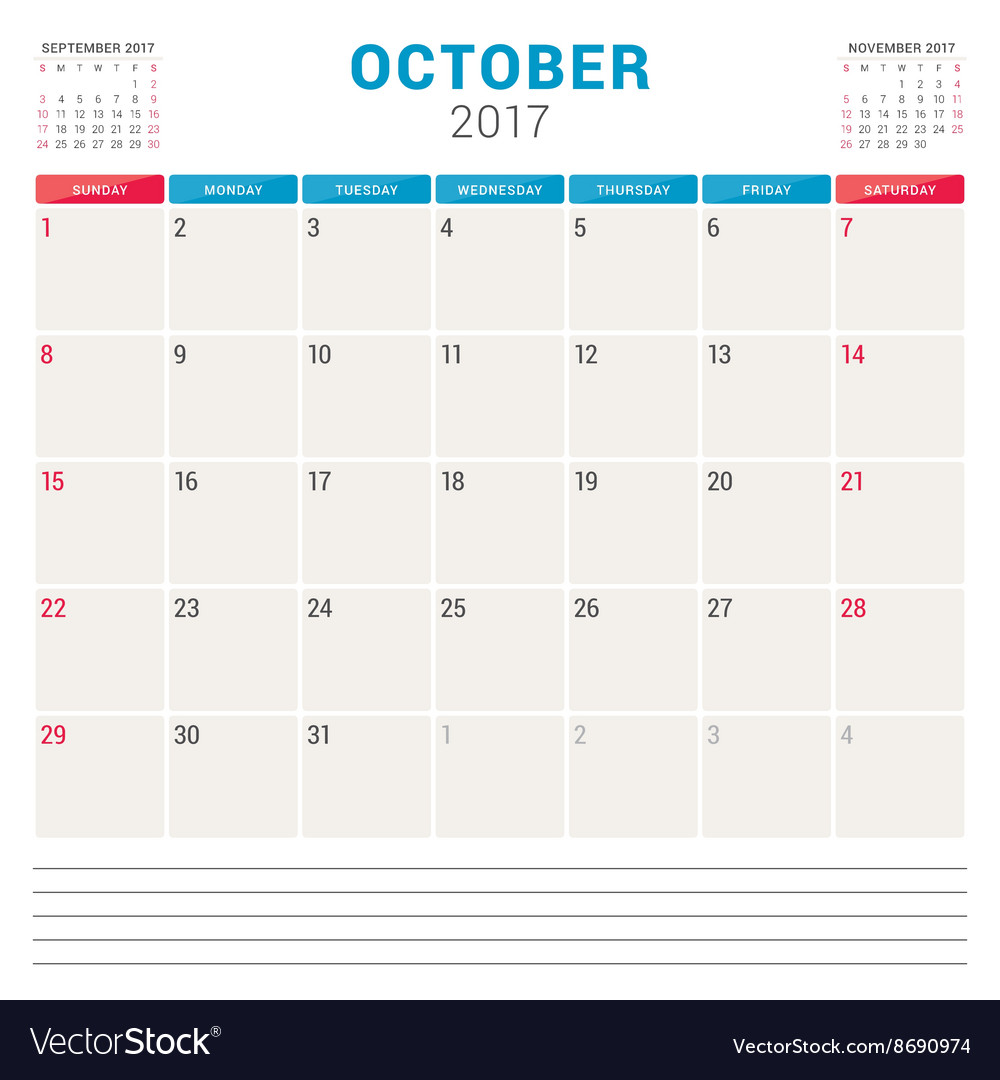 Calendar Planner Vector Free : Calendar planner for year design template vector by