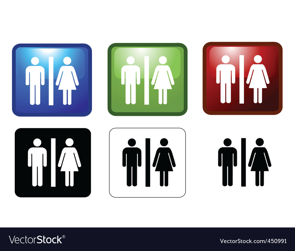 Mf toilets vector
