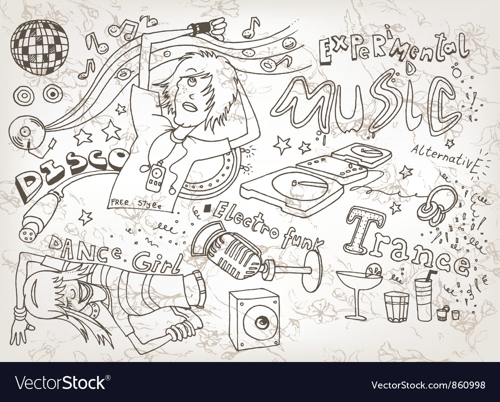 Free funny hand drawn doodles vector