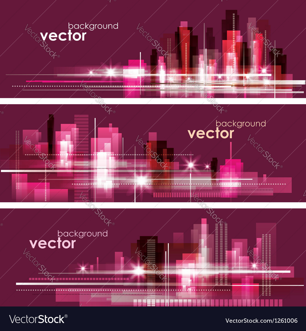 Modern night cityscape background vector