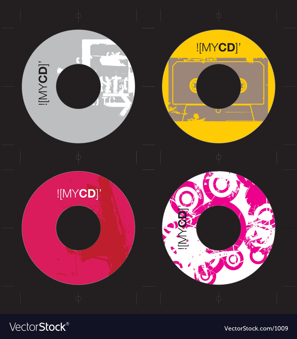 Free cd template grunge designs vector