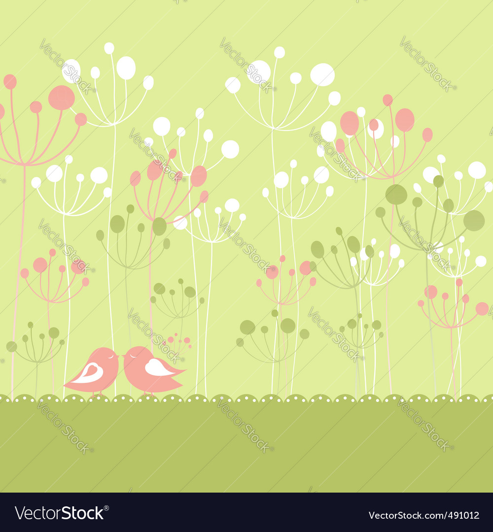 Springtime greeting vector