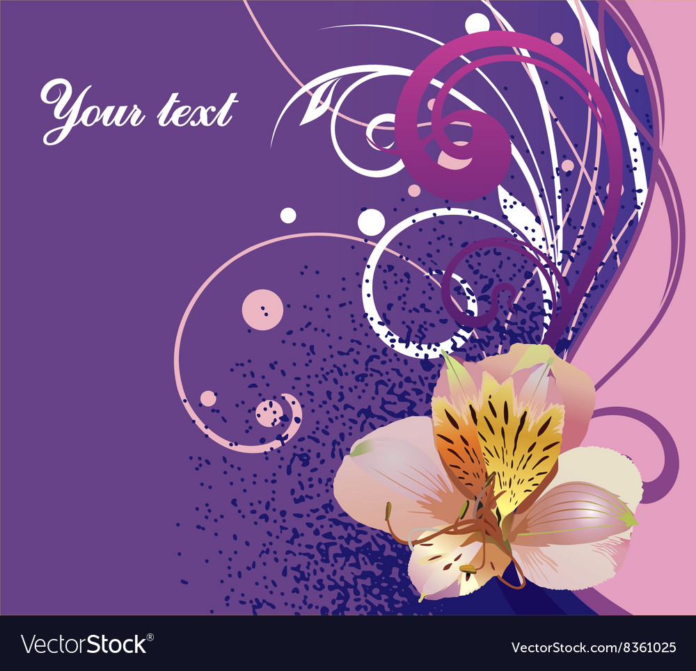 Purple floral background with text space
