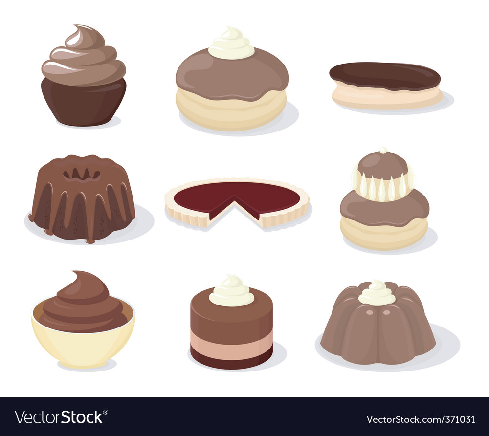 French patisserie vector