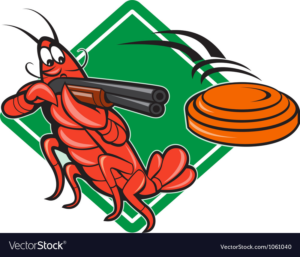 Crayfish lobster target skeet shooting vector