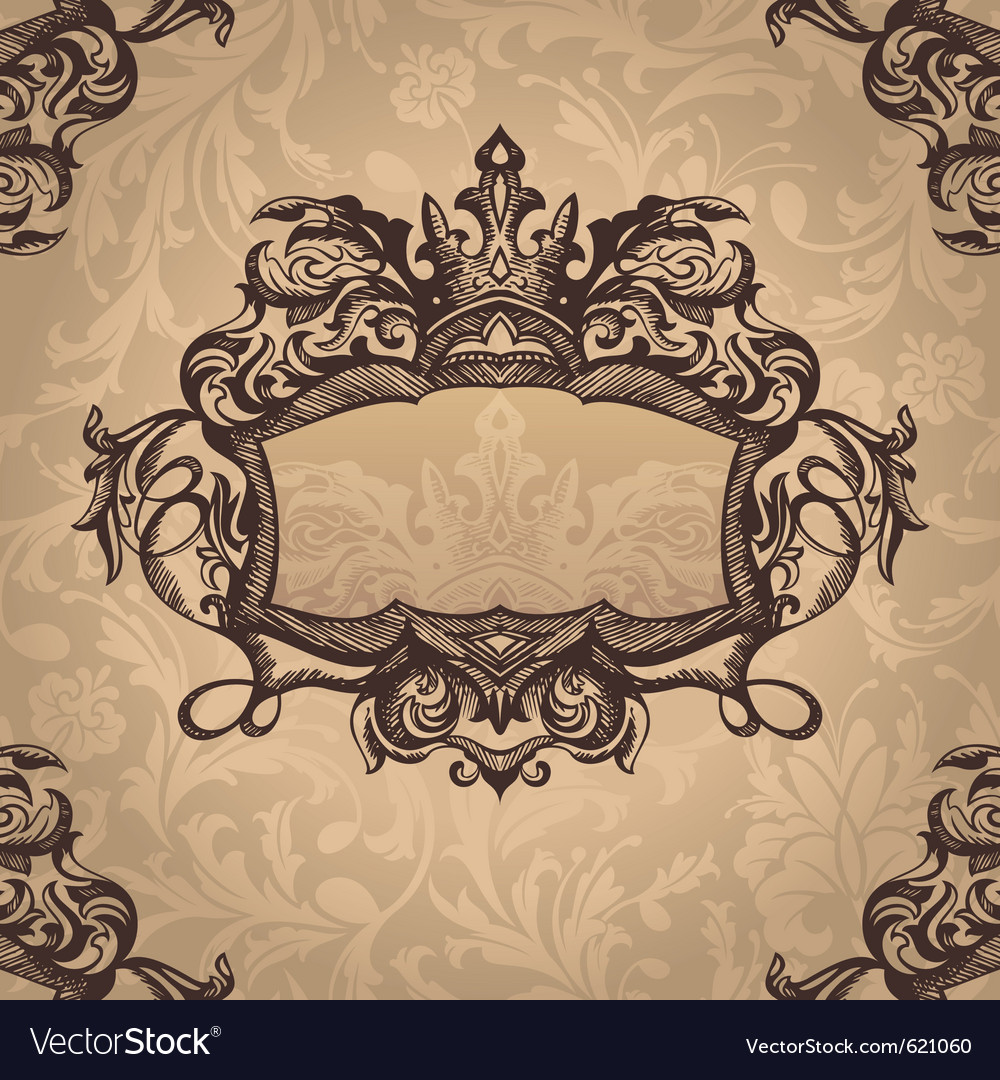 Retro royal vintage frame vector