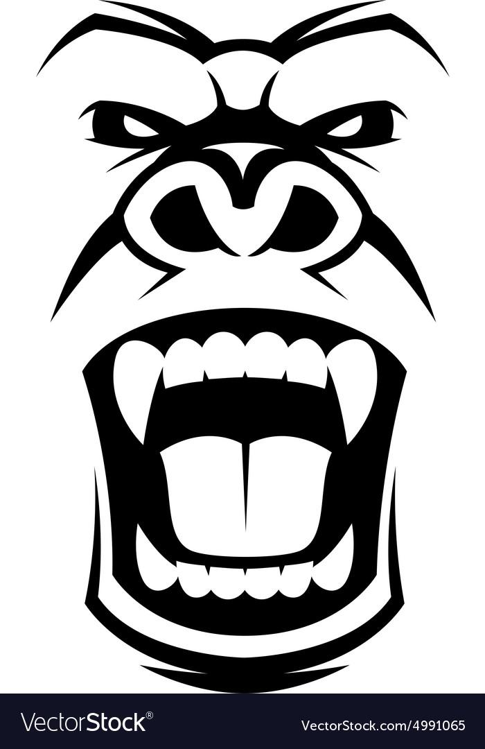 Gorilla vector head - photo#9