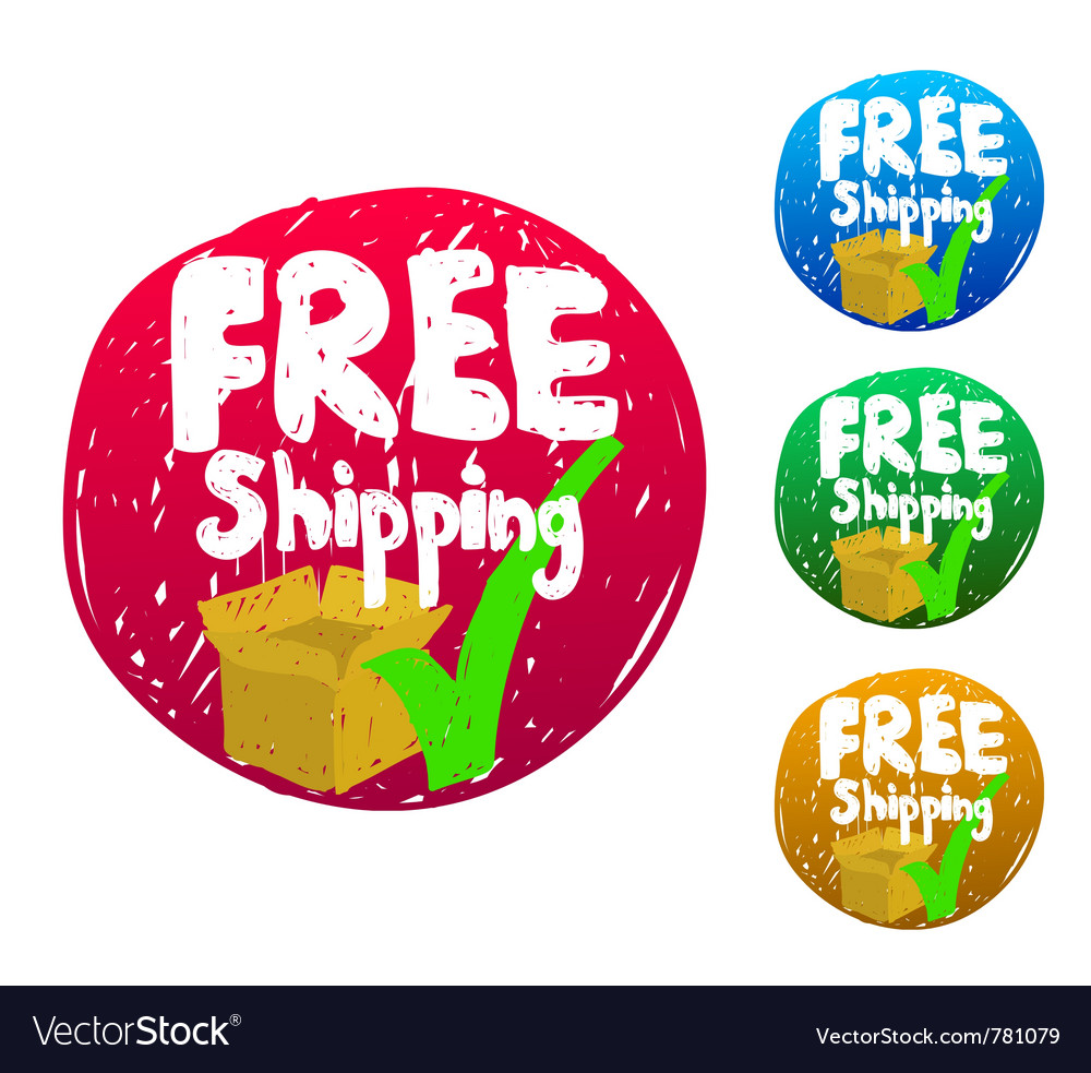 Free shipping sketch icon vector
