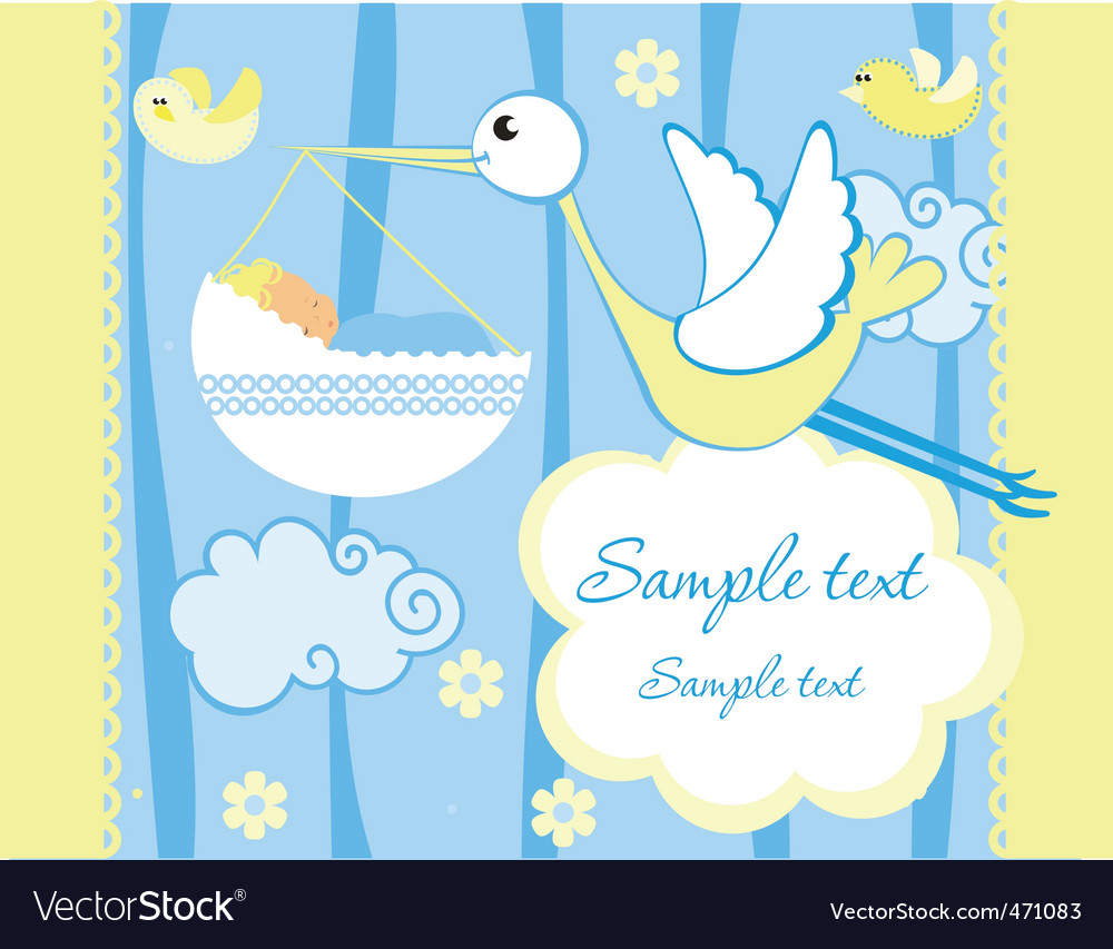 Baby greeting card vector by itmuryn - Image #471083