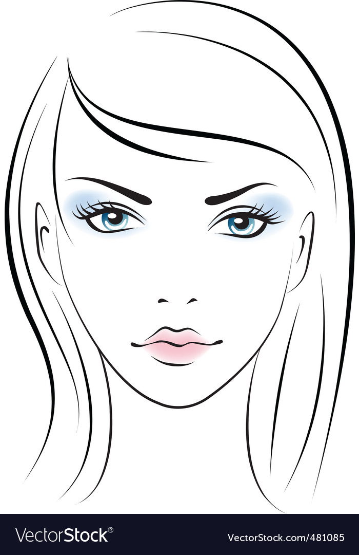 Female Face Template female portrait vector by colorvalley - image ...