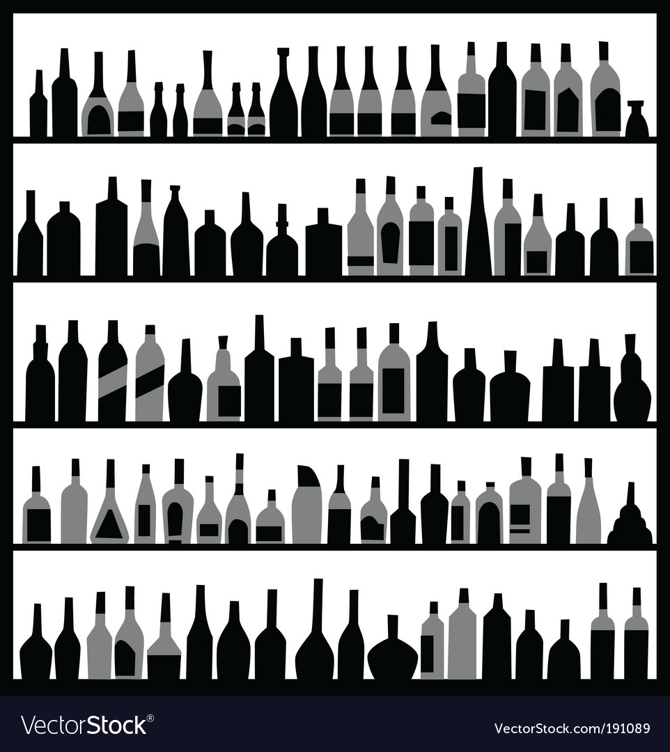 Alcohol bottles vector