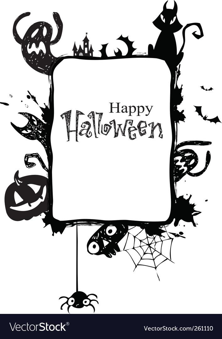 Halloween Vectors free halloween vectors Halloween Frame Vector