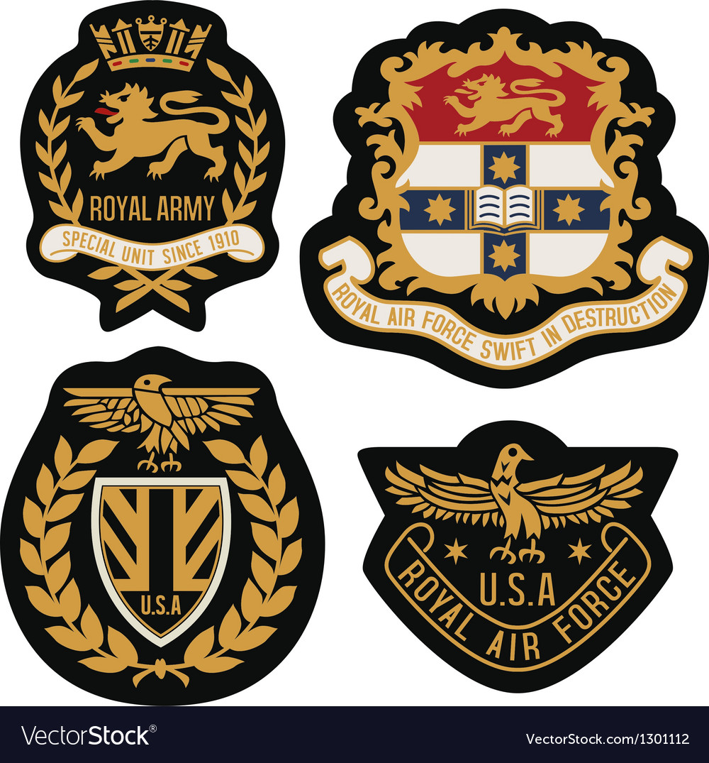 Heraldic emblem badge shield vector