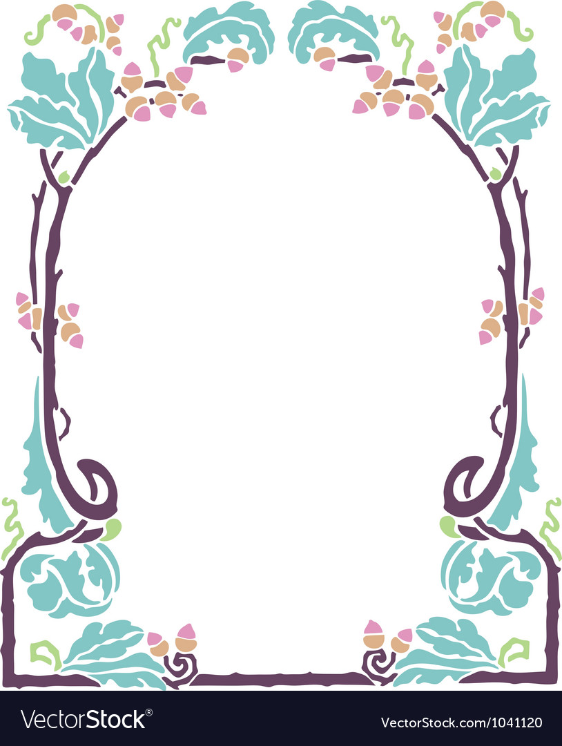 Art nouveau frame vector by HypnoCreative - Image #1041120 ... Vintage Border Vector