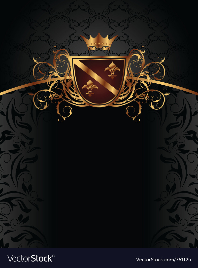 Gold vintage with heraldic elements  vector