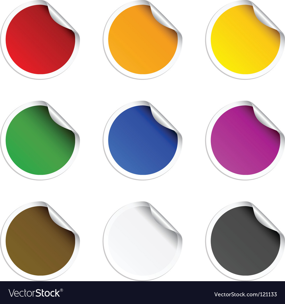 Round stickers vector
