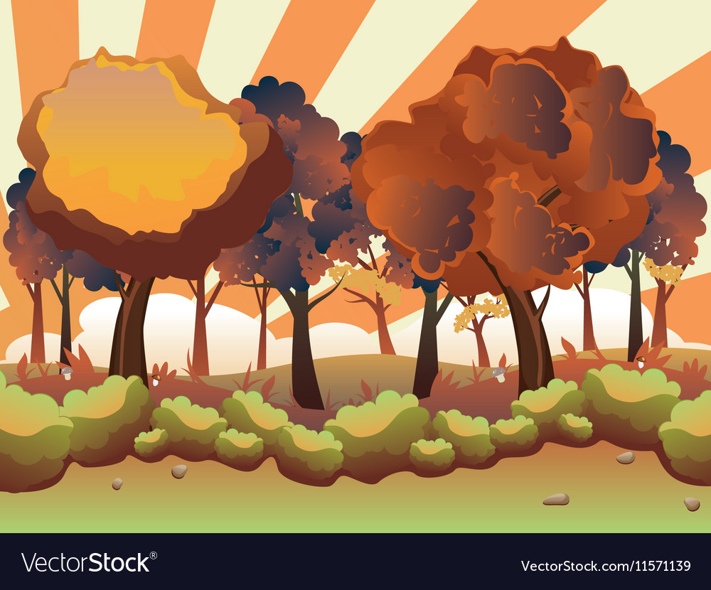 Cartoon autumn forest3
