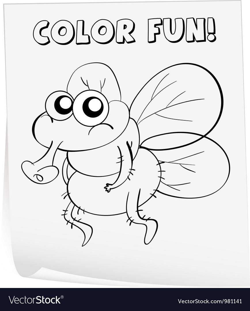 Coloring worksheet vector by iimages - Image #981141 - VectorStock