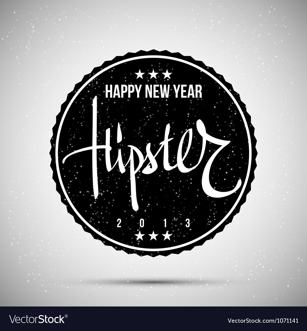 Hipster new year 2013 vector