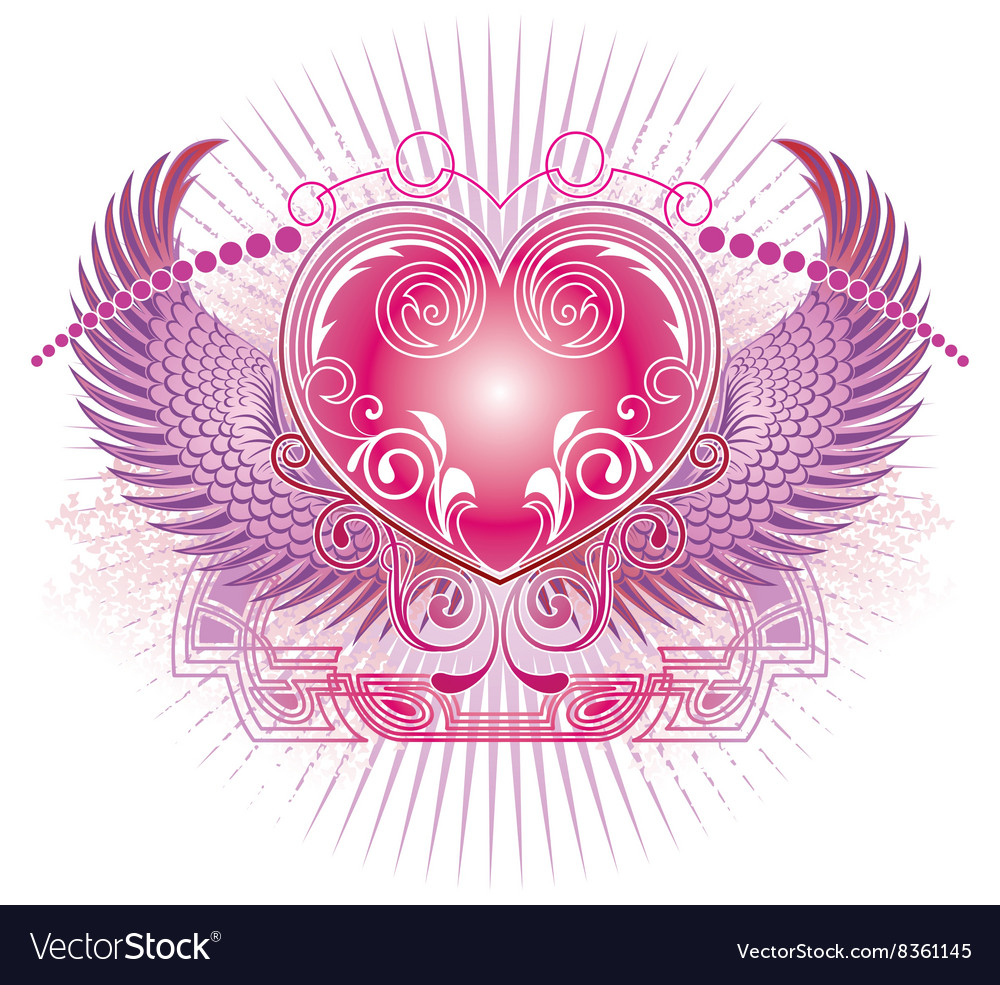 Angelic love heart design