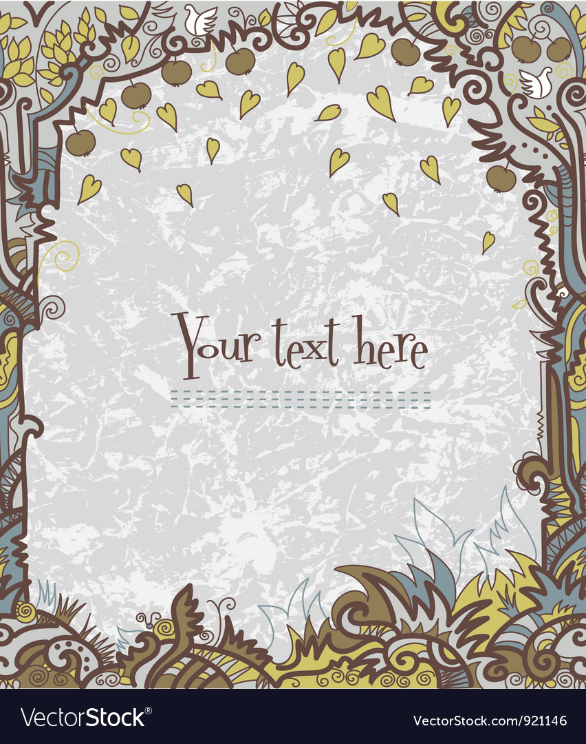 Frame decorative vector