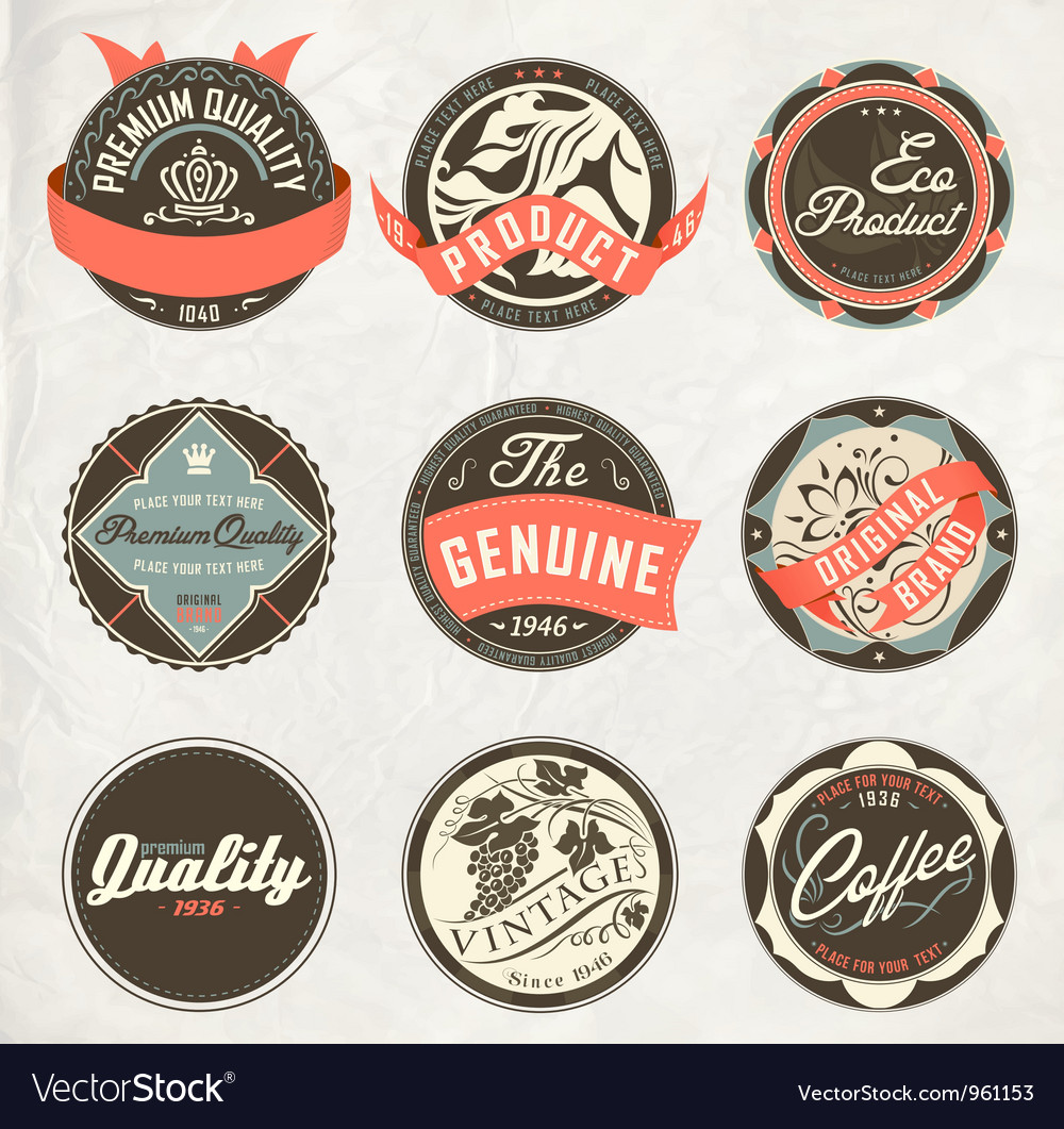 Vintage design retro labels vector