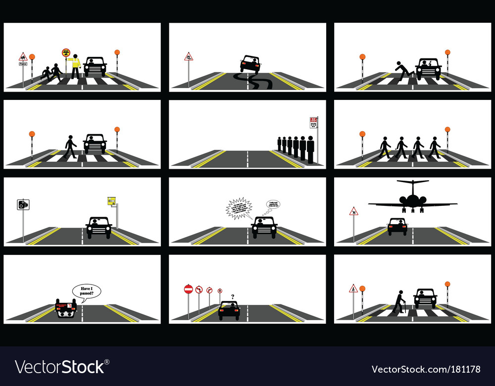 Road series collection vector