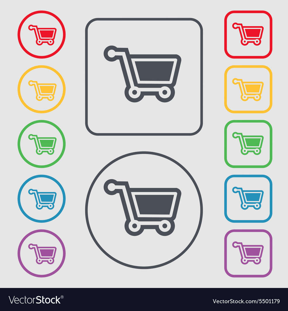 Shopping Cart Icon Sign