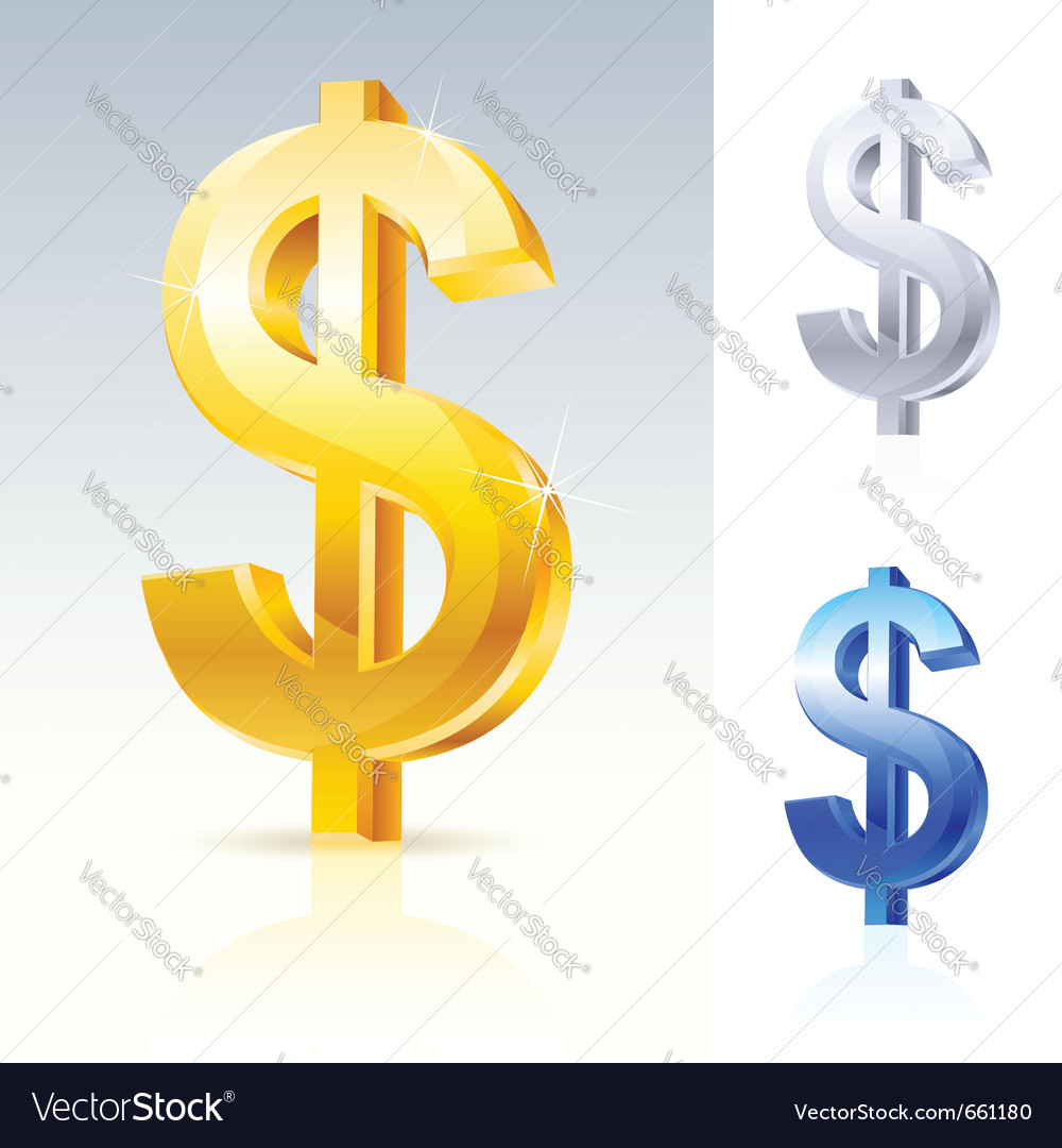 Abstract dollar sign vector