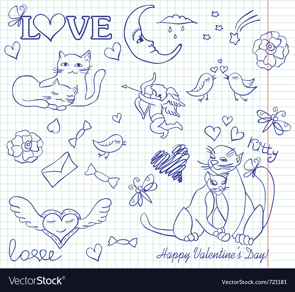 Valentine sketch vector
