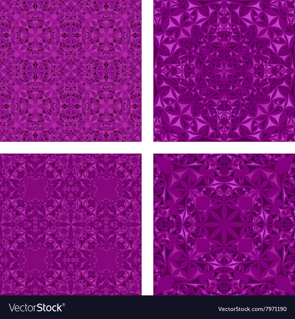 Kaleidoscope inspired floral background set