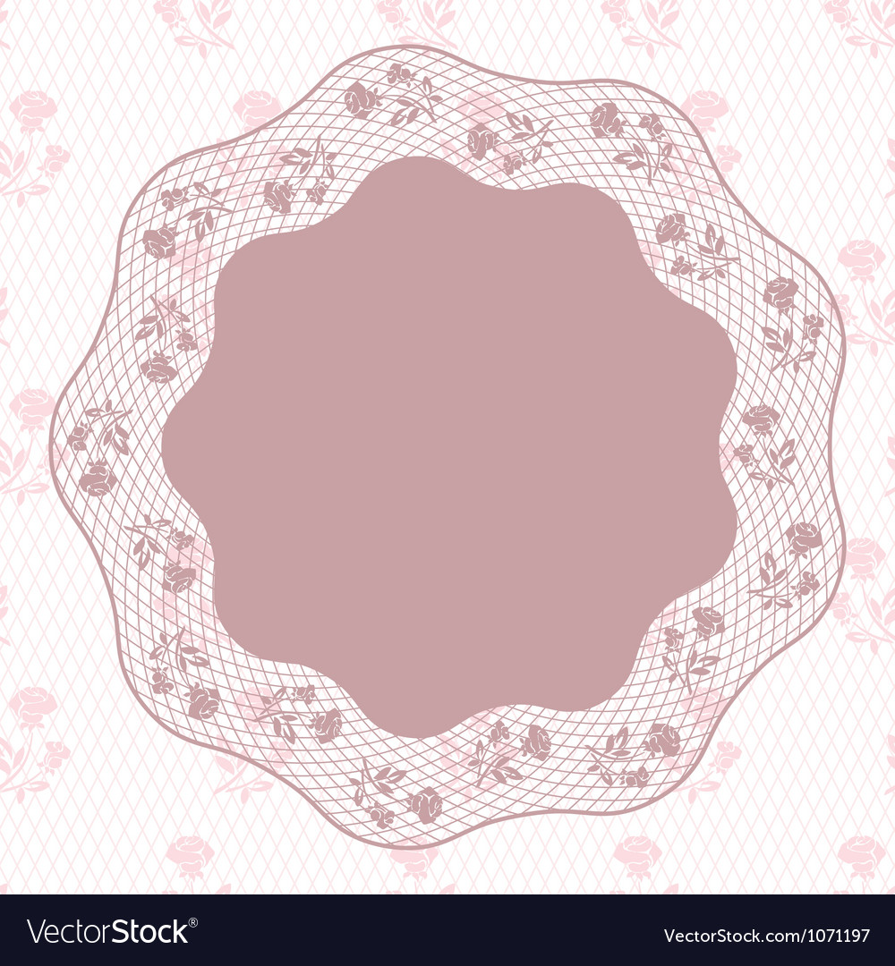 Vintage lace background ornamental flowers card vector