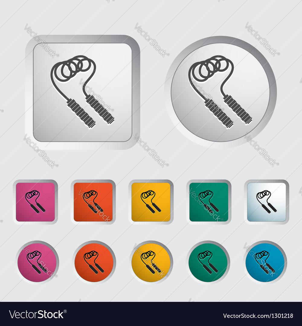 Skipping rope icon vector