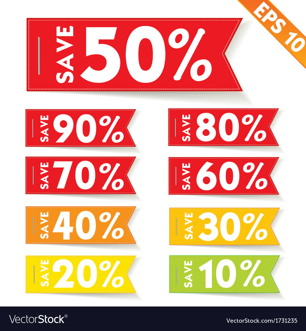 Sale percent sticker price tag   eps10 vector