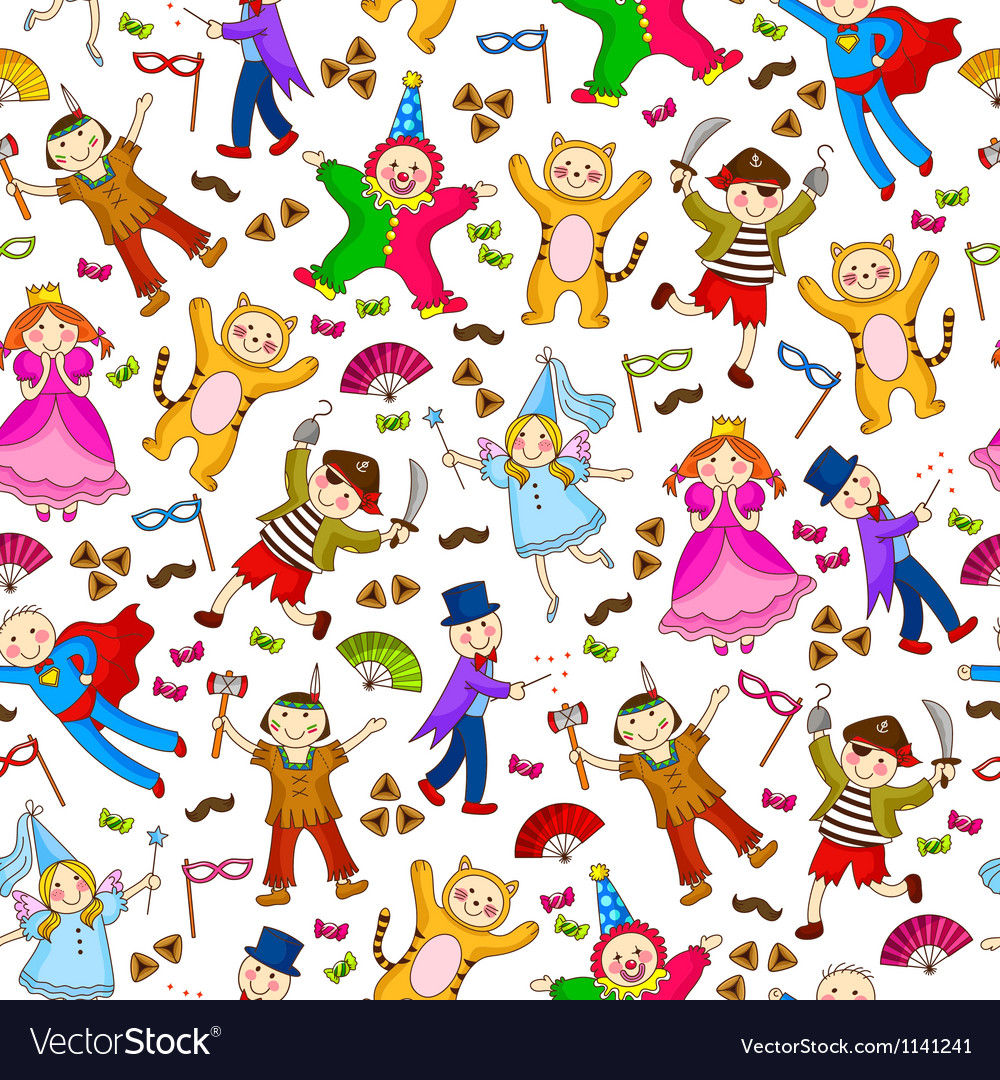 Costumes pattern vector