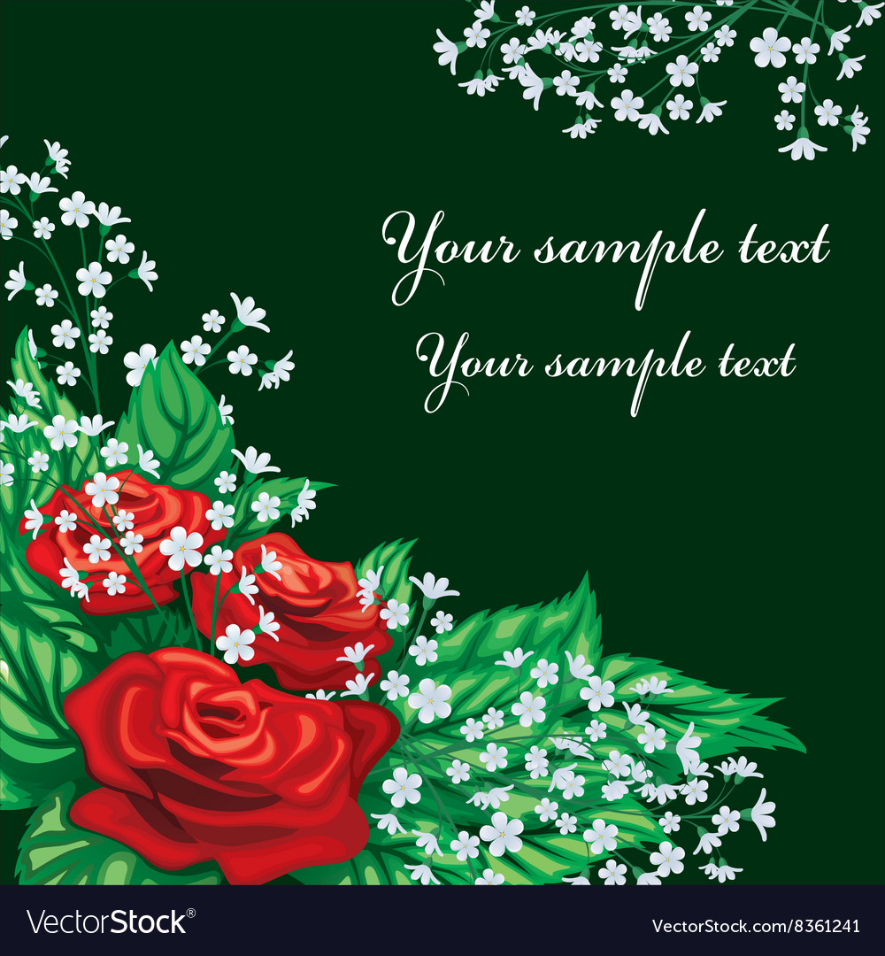 Red rose design with text space