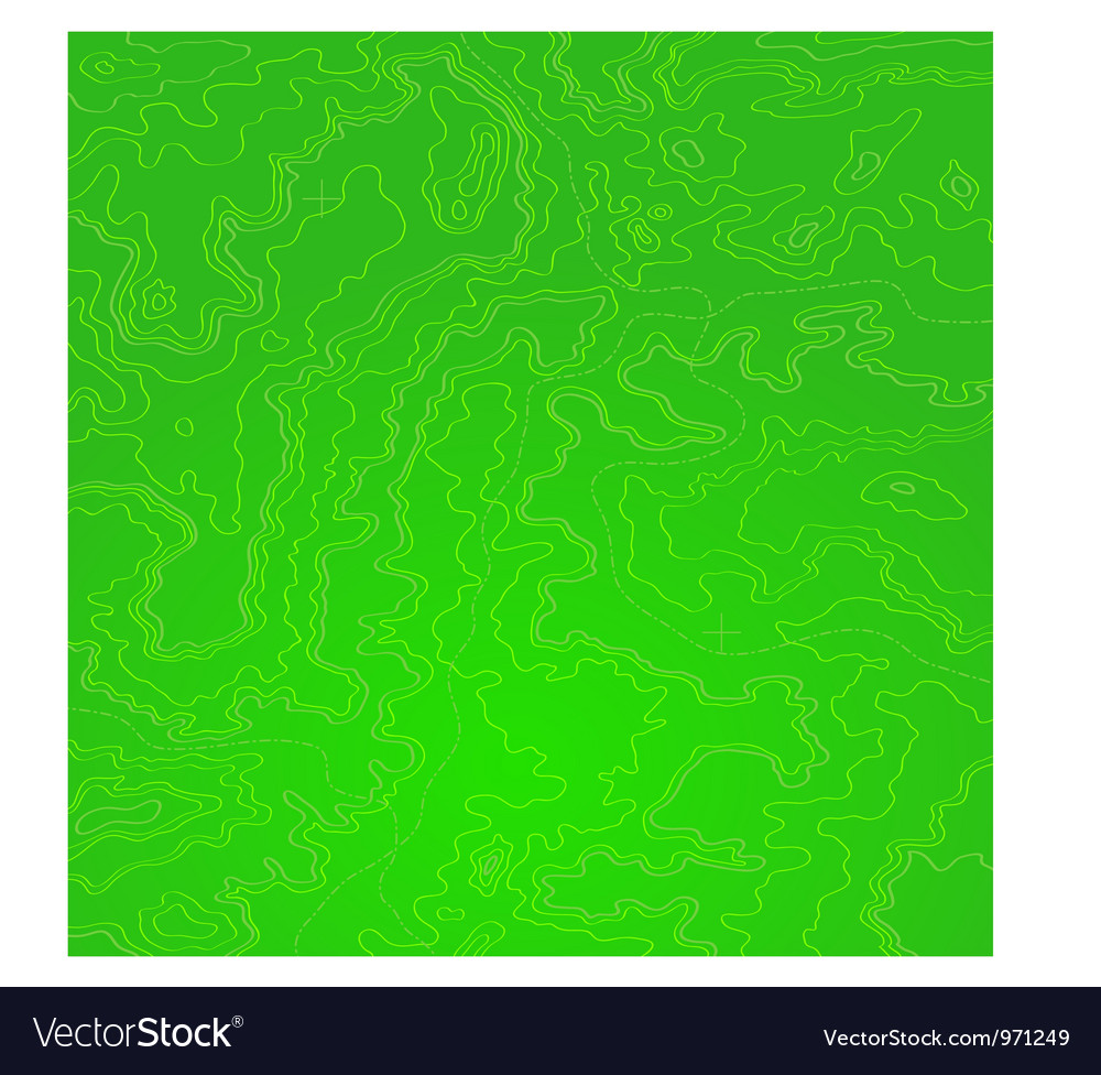 Topographic map green acid vector