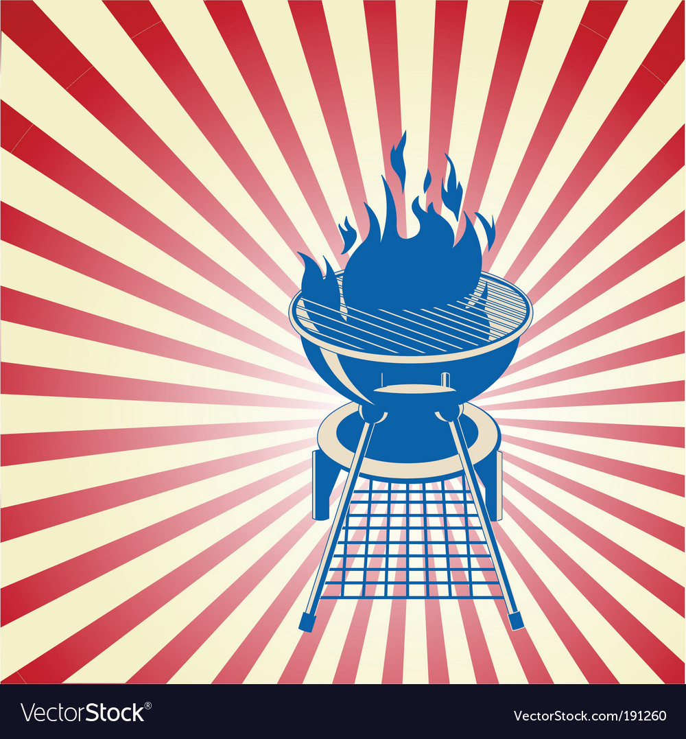 Patriotic barbeque vector